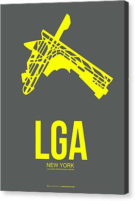 Lga New York Airport 1 Canvas Print by Naxart Studio