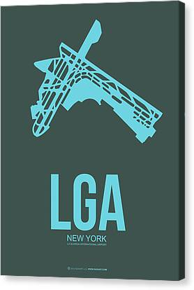 Lga New York Airport 3 Canvas Print by Naxart Studio