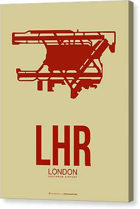 Lhr London Airport Poster 1 Canvas Print by Naxart Studio