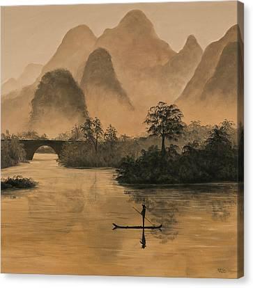 Li River China Canvas Print by Darice Machel McGuire