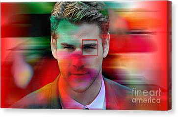 Liam Hemsworth Painting Canvas Print by Marvin Blaine