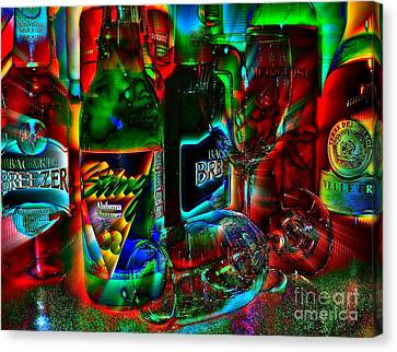 Canvas Print featuring the photograph Libations by Linda Bianic