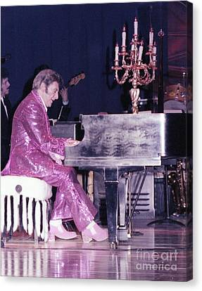 Liberace Piano Candelabra 1970 - We Will Be Seeing You Lee Liberace Canvas Print by Wayne Nielsen