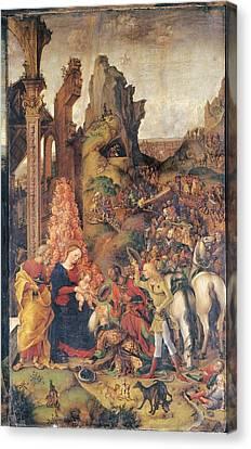 Liberale Da Verona, Adoration Canvas Print by Everett