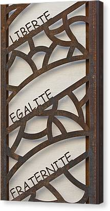 Liberte Egalite Fraternite Canvas Print by Georgia Fowler