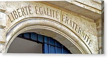 Liberte Egalite Fraternite Canvas Print