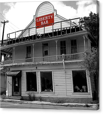 Liberty Bar In San Antonio Canvas Print by Gia Marie Houck