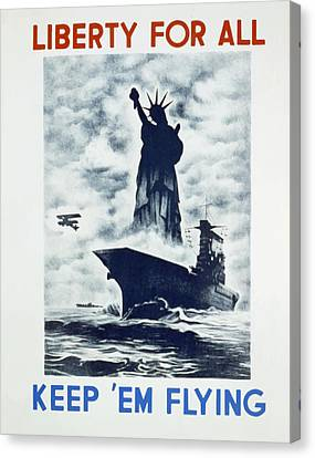 Canvas Print featuring the photograph Liberty For All by american Classic Art