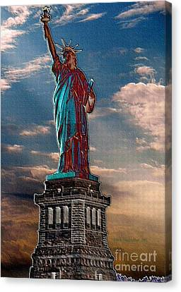 Canvas Print featuring the photograph Liberty For All by Luther Fine Art