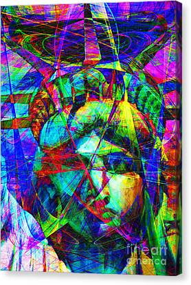 Liberty Head Abstract 20130618 Canvas Print by Wingsdomain Art and Photography