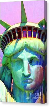 Liberty Head Painterly 20130618 Long Canvas Print by Wingsdomain Art and Photography