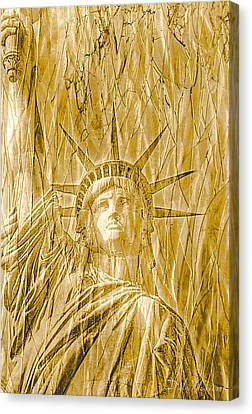 Canvas Print featuring the photograph Liberty Is Golden by Dyle   Warren