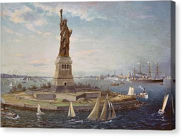 Liberty Island New York Harbor Canvas Print