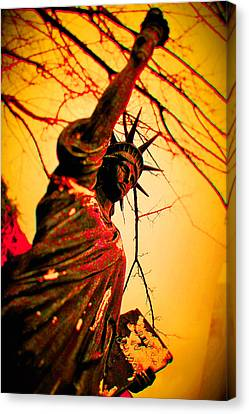 Bloodied Liberty Canvas Print by Josh Brown
