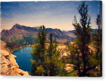 Alpine Canvas Print - Liberty Lake by John K Woodruff
