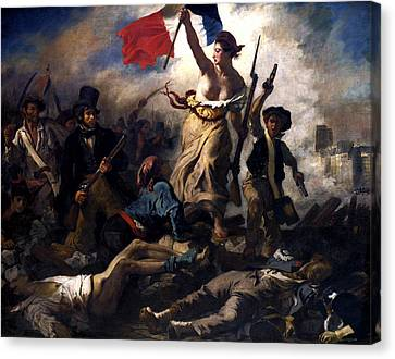 Liberty Leading The People During The French Revolution Canvas Print