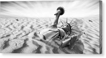 Beach Landscape Canvas Print - Liberty Park II Panoramic by Mike McGlothlen