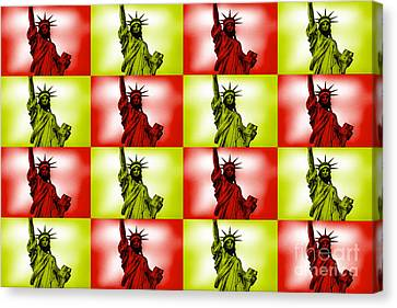 Liberty Pop Art Canvas Print by Az Jackson