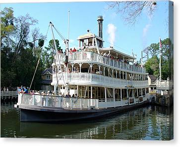 Canvas Print featuring the photograph Liberty Riverboat by David Nicholls
