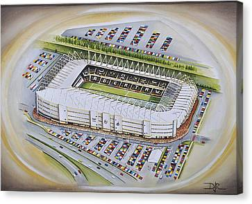 Liberty Stadium - Swansea City Canvas Print by D J Rogers