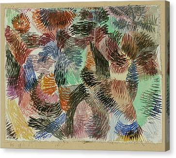 Libido Of The Forest Canvas Print by Paul Klee