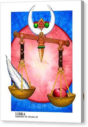 Libra Canvas Print by Michael Baum