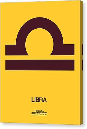 Cancer Canvas Print - Libra Zodiac Sign Brown by Naxart Studio