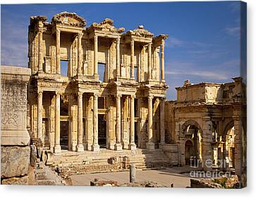 Library Of Celsus Canvas Print - Library At Ephesus by Brian Jannsen