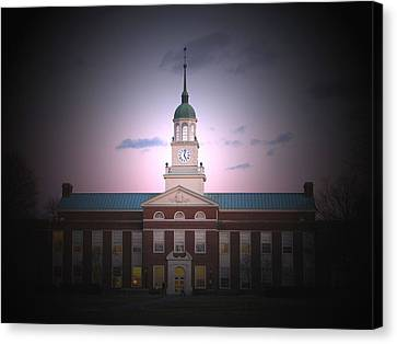 Library At Night Canvas Print by Ronald Fleischer