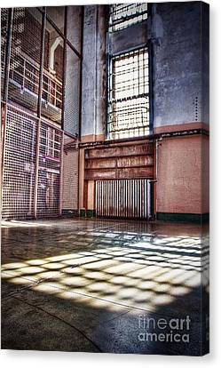 Library Cage Canvas Print by Andrew Brooks
