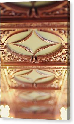 Canvas Print featuring the photograph Library Ceiling by Heather Green