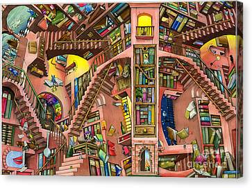 Library Canvas Print by Colin Thompson