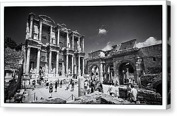 Library Of Celsus Canvas Print - Library Of Celsus - Ephesus by Stephen Stookey