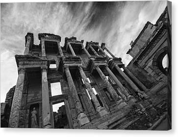 Library Of Celsus Canvas Print - Library Of Celsus At Ephesus by Nigel Forster