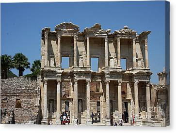 Library Of Celsus Canvas Print - Library Of Celsus In Ephesus by Christiane Schulze Art And Photography