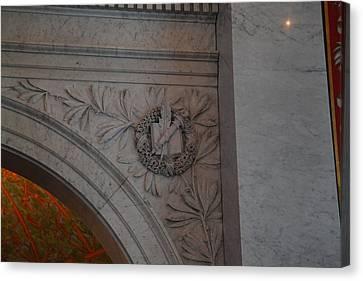 Stonework Canvas Print - Library Of Congress - Washington Dc - 011319 by DC Photographer