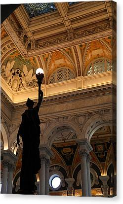 Library Of Congress - Washington Dc - 01134 Canvas Print by DC Photographer