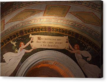 Ceiling Canvas Print - Library Of Congress - Washington Dc - 01135 by DC Photographer