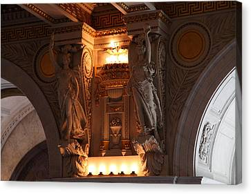 Library Of Congress - Washington Dc - 01137 Canvas Print by DC Photographer