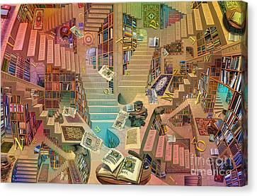 Library Of The Mind Art Canvas Print by Garry Walton