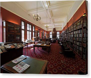 Library Of The Rand Club, Loveday Canvas Print by Panoramic Images