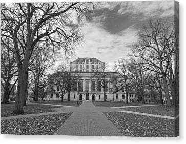Library Ohio State University Black And White  Canvas Print by John McGraw