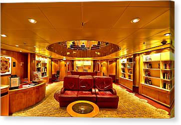 Library On Royal Caribbean Adventures Of The Seas Canvas Print