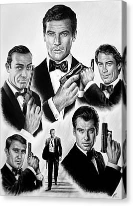 Licence To Kill  Bw Canvas Print