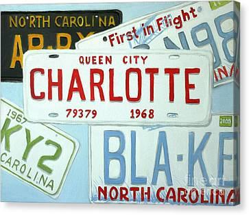 License Plates Canvas Print
