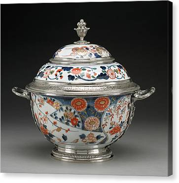 Lidded Bowl Unknown Imari, Japan, Asia Porcelain About 1700 Canvas Print by Litz Collection