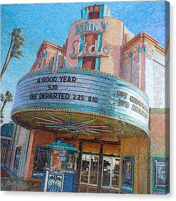 Stained Glass Canvas Print - Lido Theater by Mia Tavonatti
