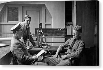 Law Enforcement Canvas Print - Lie Detector Test by Underwood Archives