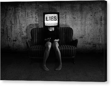 Lies Canvas Print by Nicklas Gustafsson