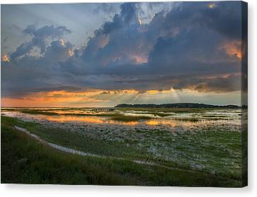 Lieutenant Island Sunset Canvas Print by Bill Wakeley